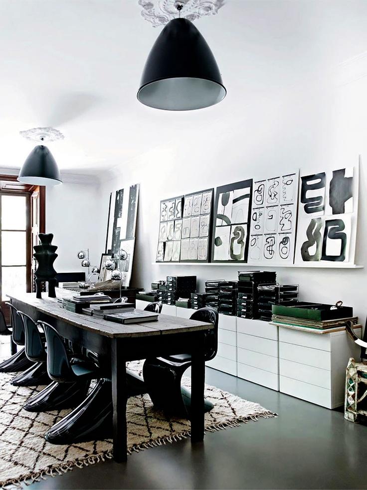 modern black dining chairs