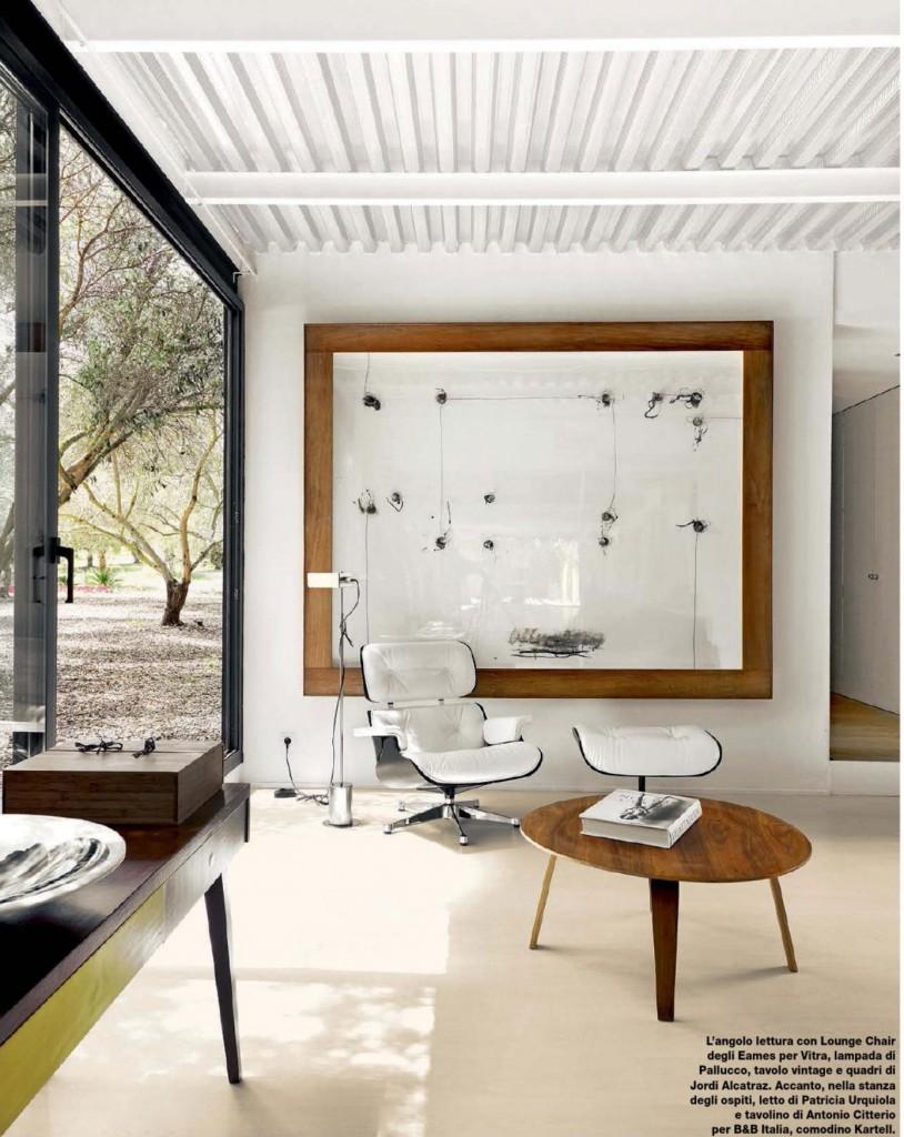 Modern retro living interiors by color for Modern retro interior