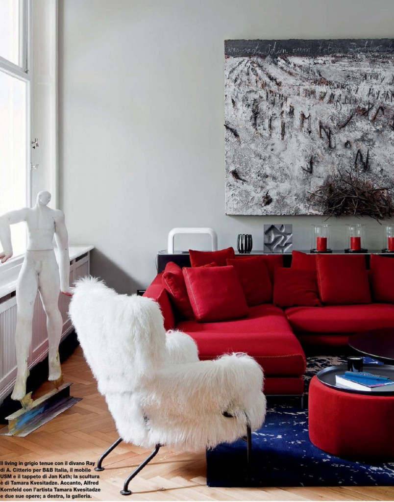 Modern Living Room Red And Blue