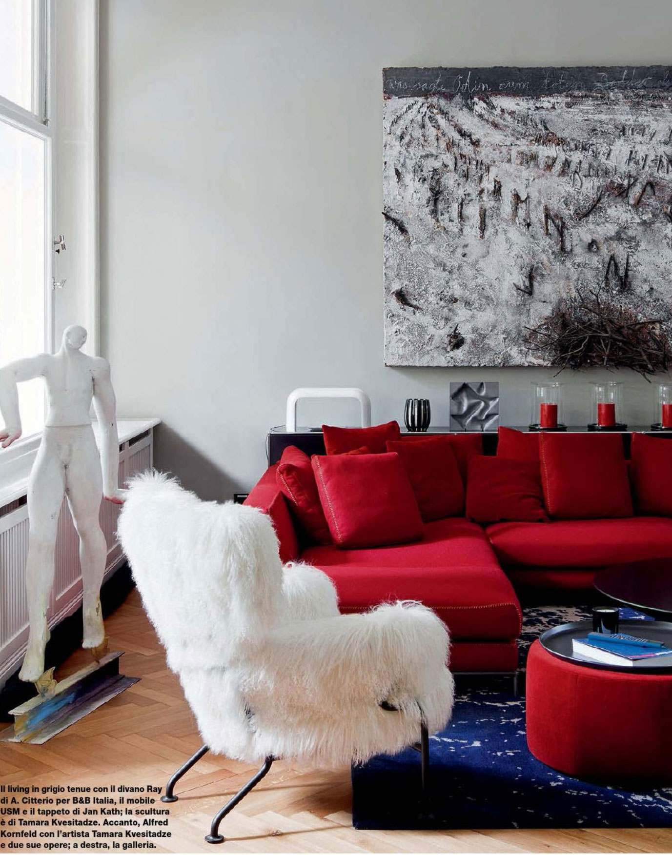 Modern Living Room Red red and turquoise modern interior - interiorscolor