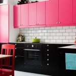 Pink and Black Modern Kitchen