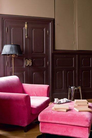 pink velvet decoration