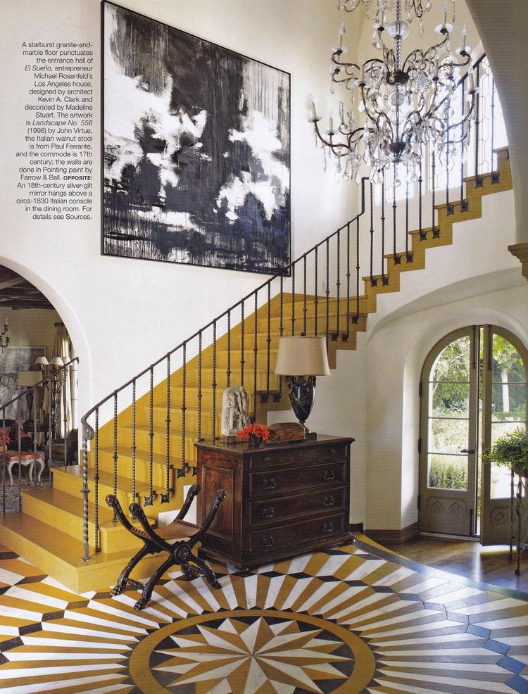 starburst floor staircase