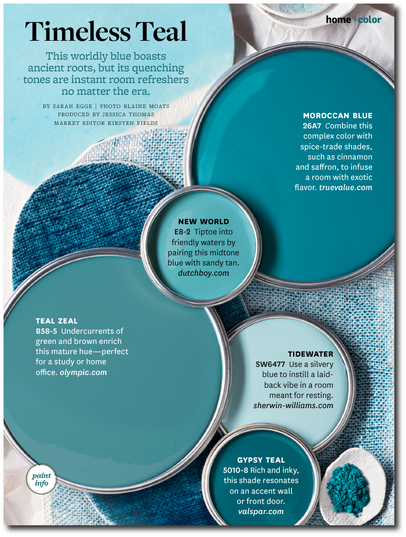 Timeless Teal Paint Colors By Bhg Interiors By Color