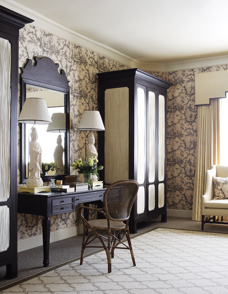 toile and orintental bedroom vanitu