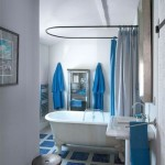 Bathroom In Blue Vintage
