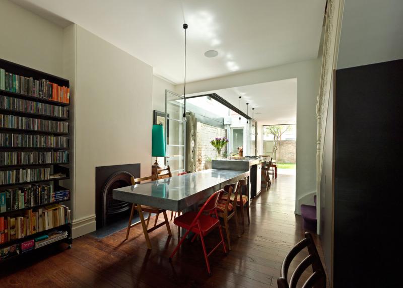 A Long Kitchen Island interior 1