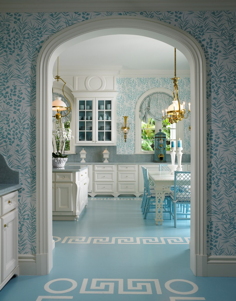 Pastel Blue Classical Kitchen