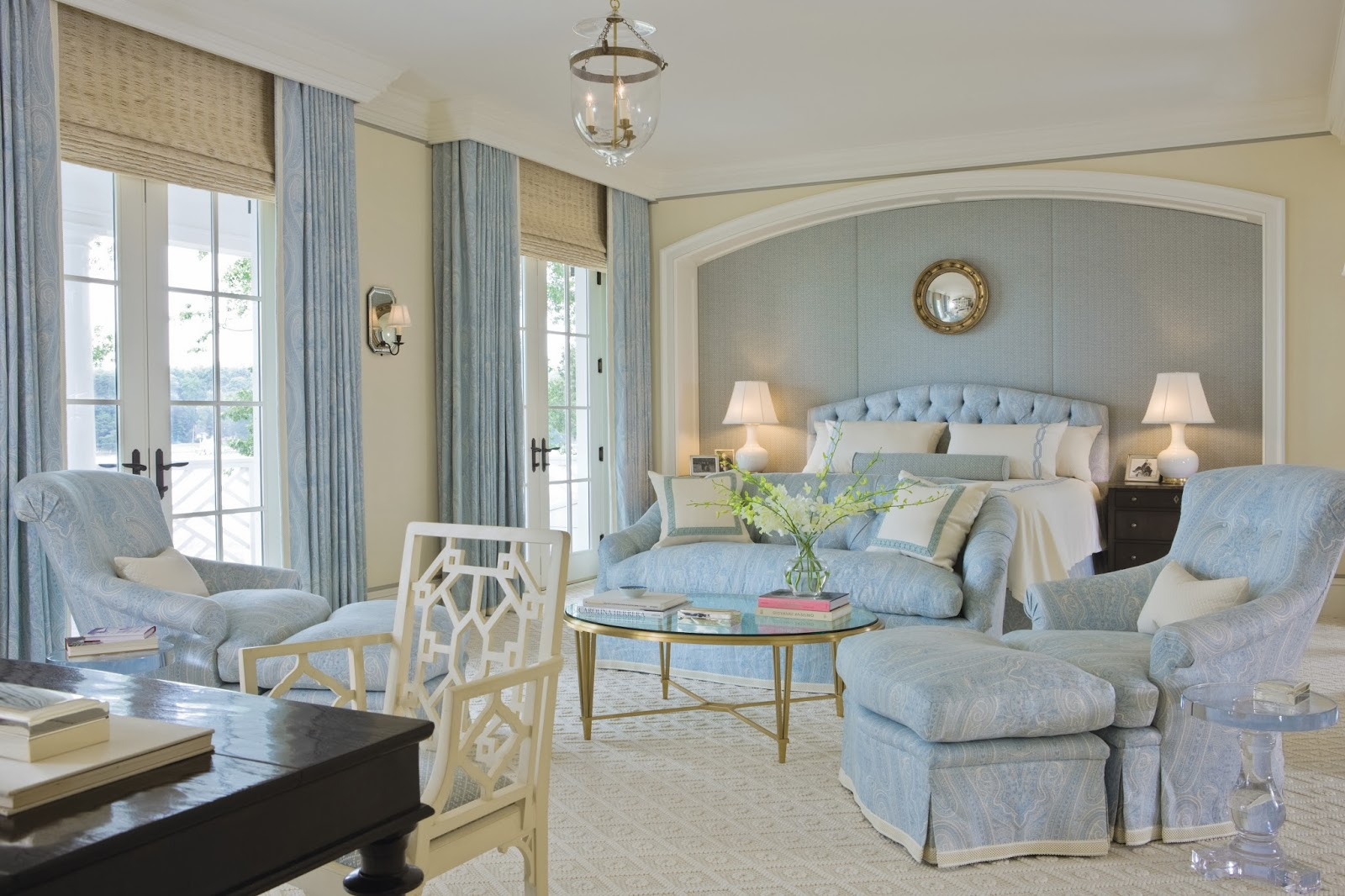Classic light blue bedroom design interiors by color Master bedroom light blue walls