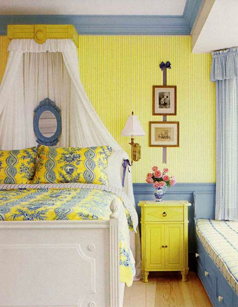 Blue And Yellow Bedroom Vitnage