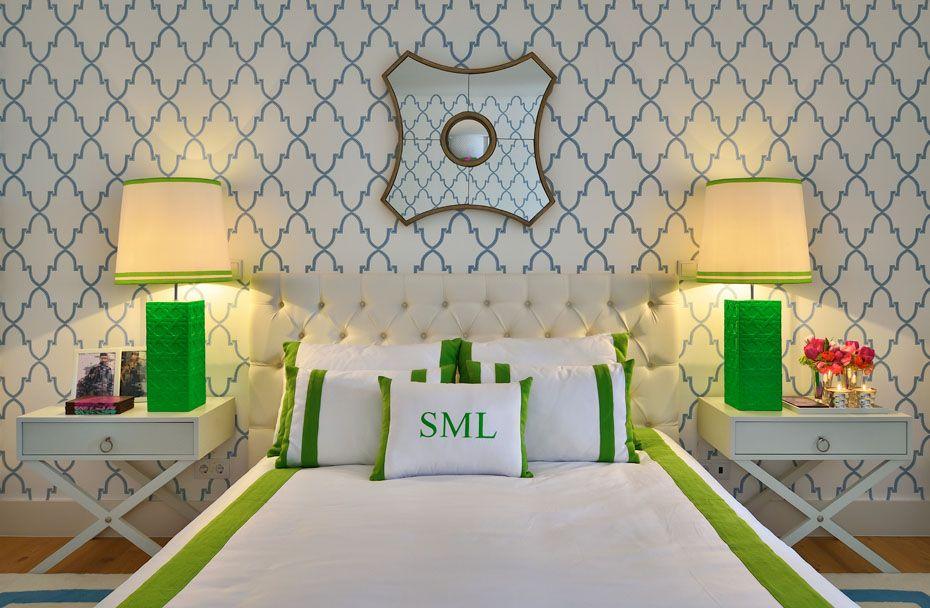 blue green bedroom 1