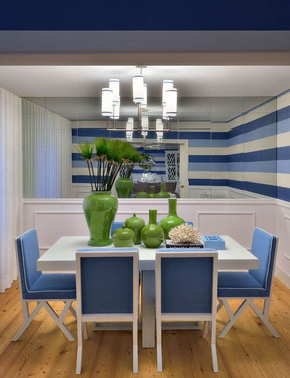 blue green dining contemporary