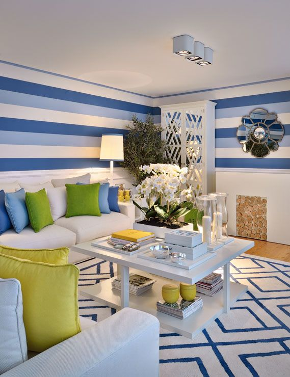 blue yellow green contemporary living 1