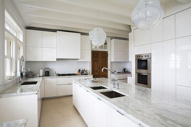 marble benchtop kitchen