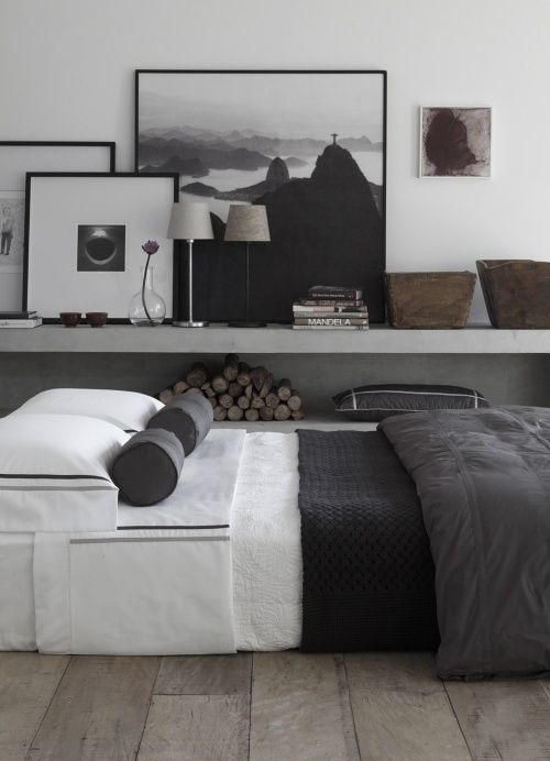 Masculine Black And Gray Bedroom