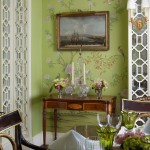 Classical Chinoiserie Green Dining