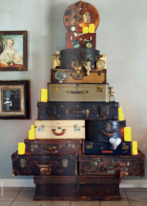 Christmas Tree Out Of Vintage Suitcases Interiors By Color