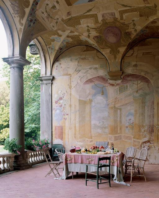 Seventeenth Century Frescoes Mural