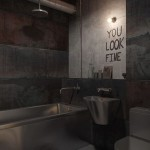 Dark Industrial Bathroom