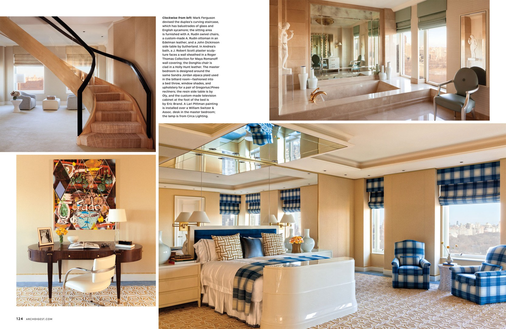 Full house architectural digest march 2014 interiors for Complete house interior design