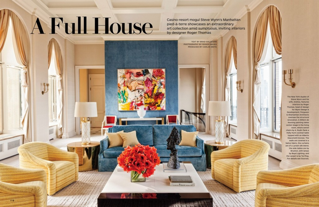 Full House - Architectural Digest March 2014 interior editorial