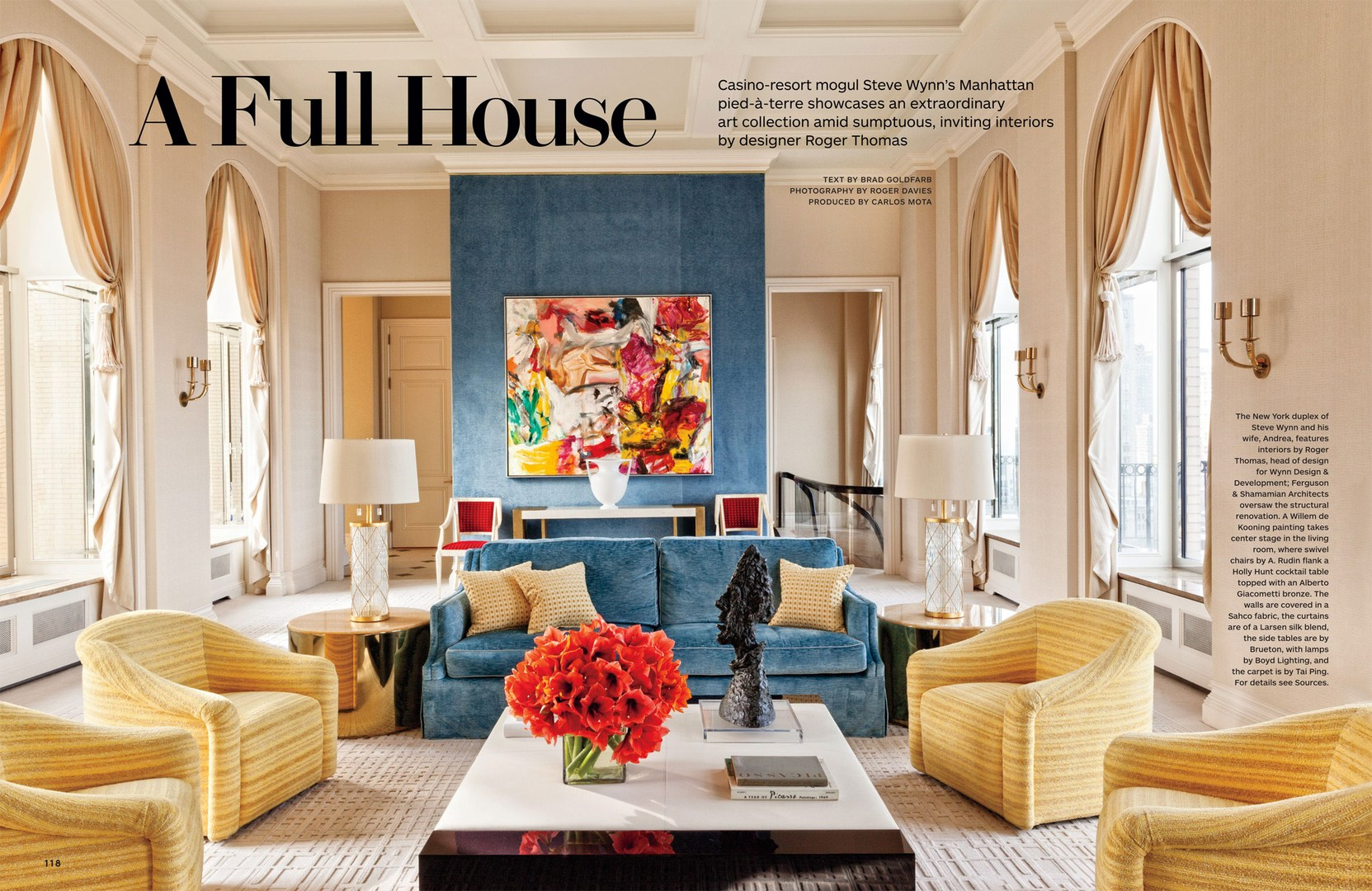 Full House Architectural Digest March 2014 on leopard and red living room ideas