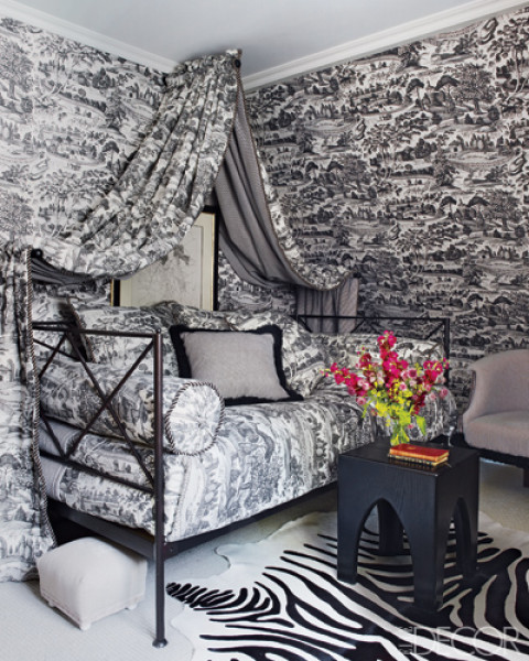canopy-beds black toile