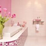 Sparkly Pink Mosaic Bath