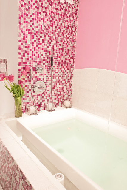 Pink Tile Bathroom Decorating Ideas
