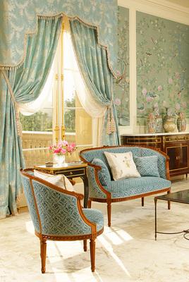 eggshell blue traditional interior
