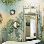 Painted Garden Mural Bathroom
