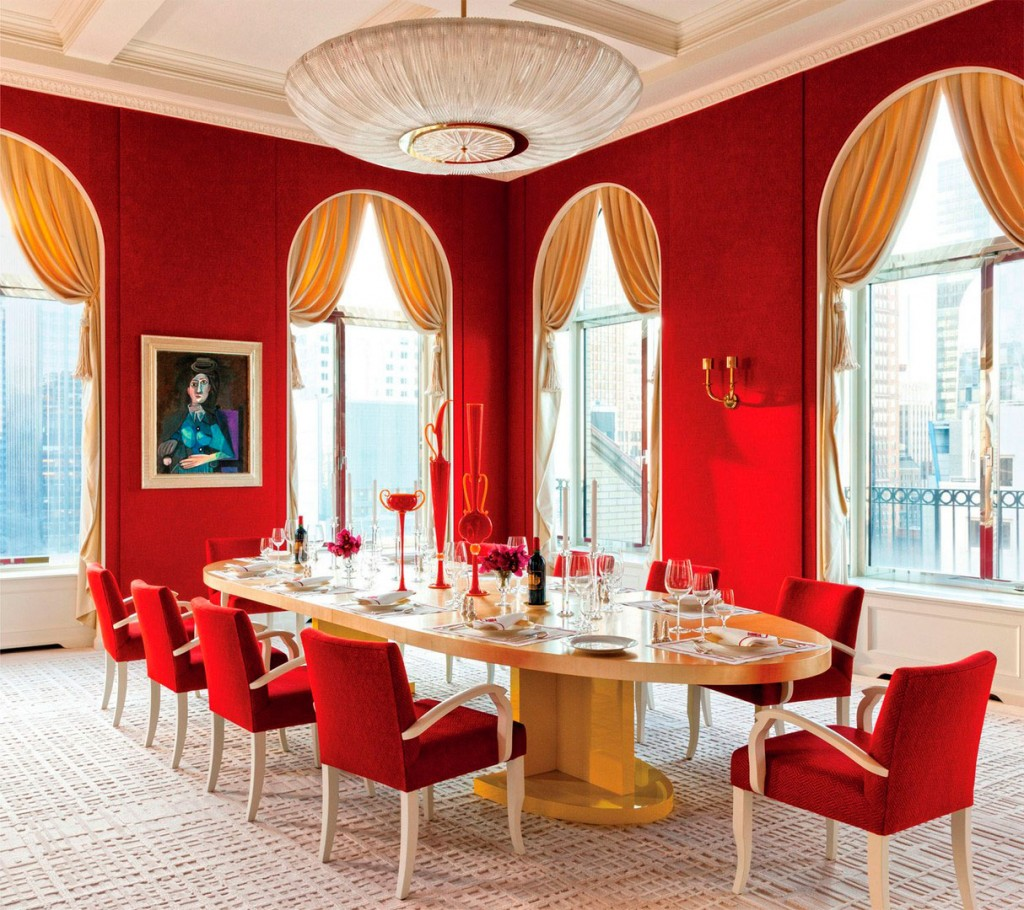 Carlos mota interiors by color 2 interior decorating ideas for Red dining room decorating ideas