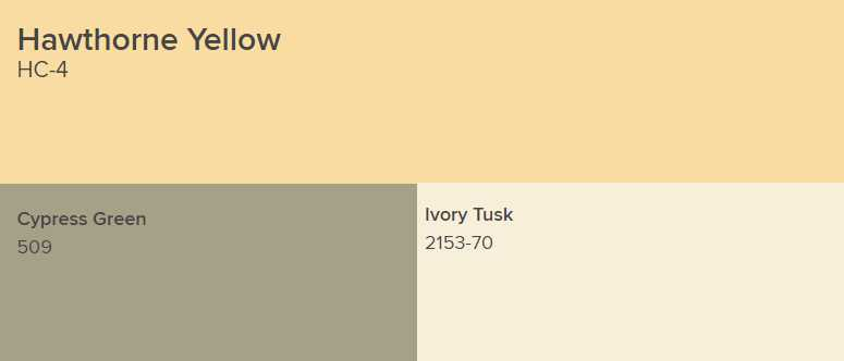 Benjamin Moore Hawthorne Yellow Interiors By Color