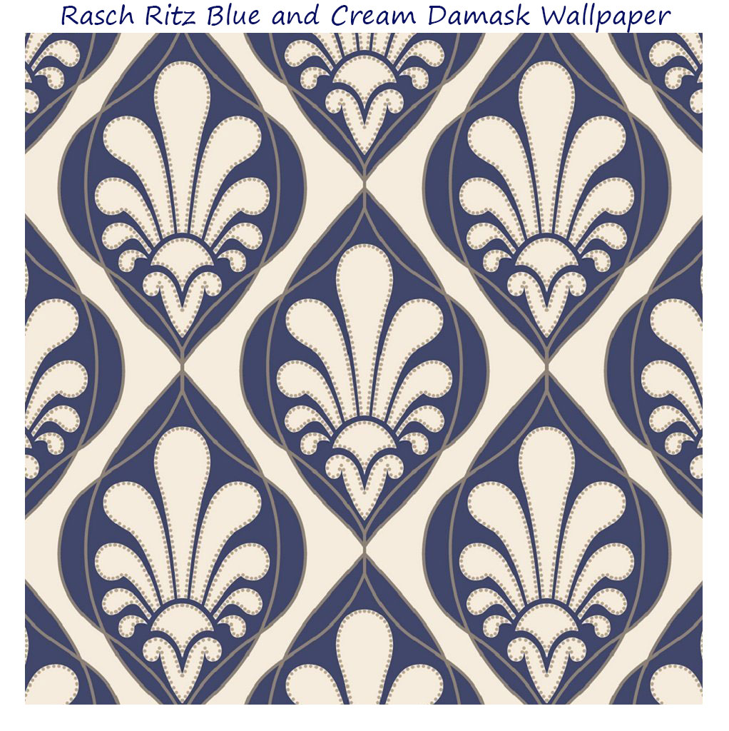 Rasch-Ritz-Blue-and-Cream-Damask-Wallpaper