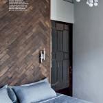 Chevron Flooring for the Walls