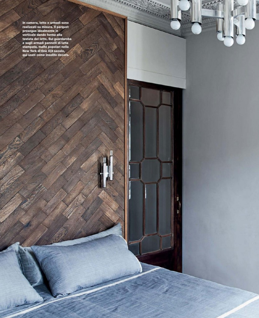 Chevron Flooring for the Walls