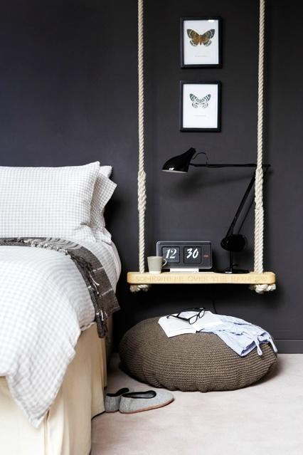 black modern bedroom