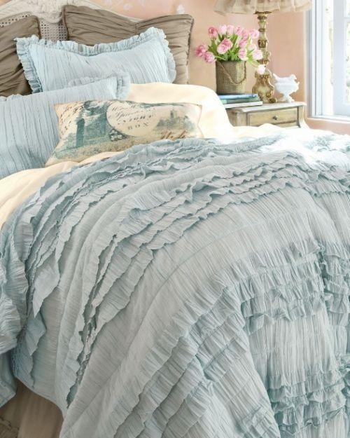 Bedspread Duck Egg Blue: Interiors By Color