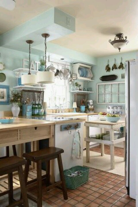Duck egg blue color school interiors by color for Duck egg blue kitchen island