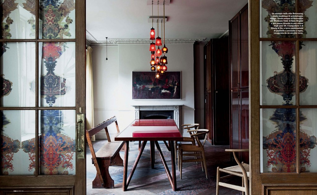 eclectic-red-dining-room