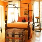 Light Bright Orange Bedroom