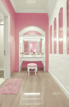 Glam Baby Pink Dressing Room Interiors By Color
