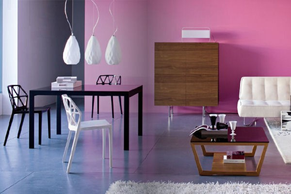 Modern Pink Living - Interiors By Color