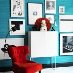 Red and Turquoise Modern Interior