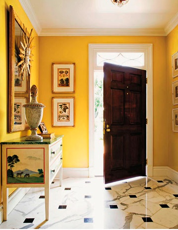 Entrance In Showtime By Benjamin Moore Interiors By Color