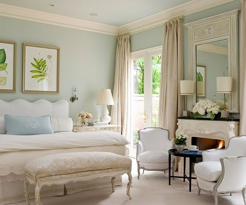 traditional bedroom duck egg blue