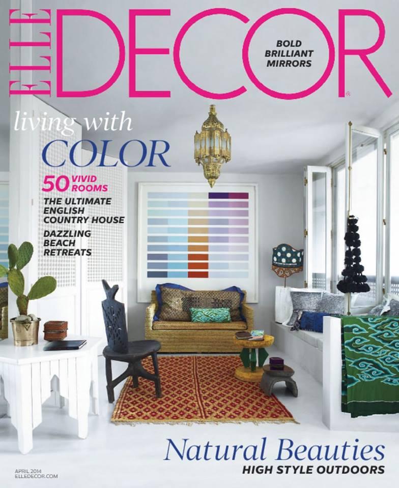 Elle Decor April 2014 cover