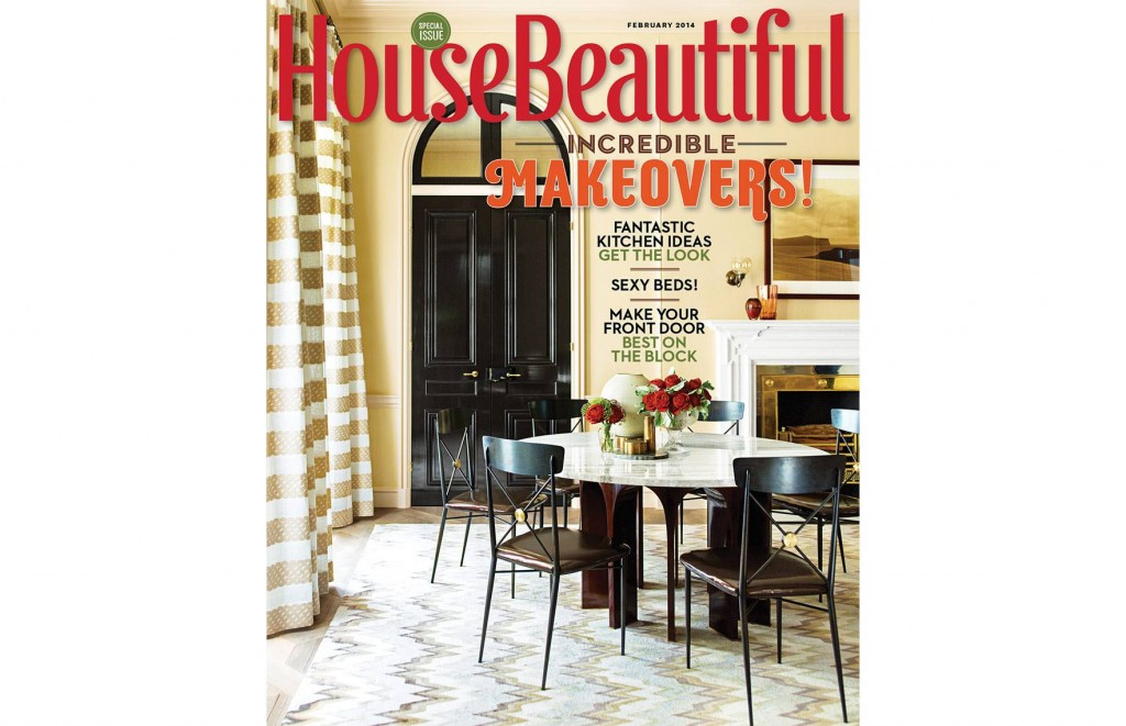 House Beautiful Cover, February 2014