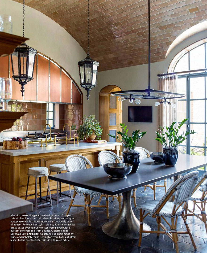 Kitchen With A Tiled Barrel-Vault Ceiling