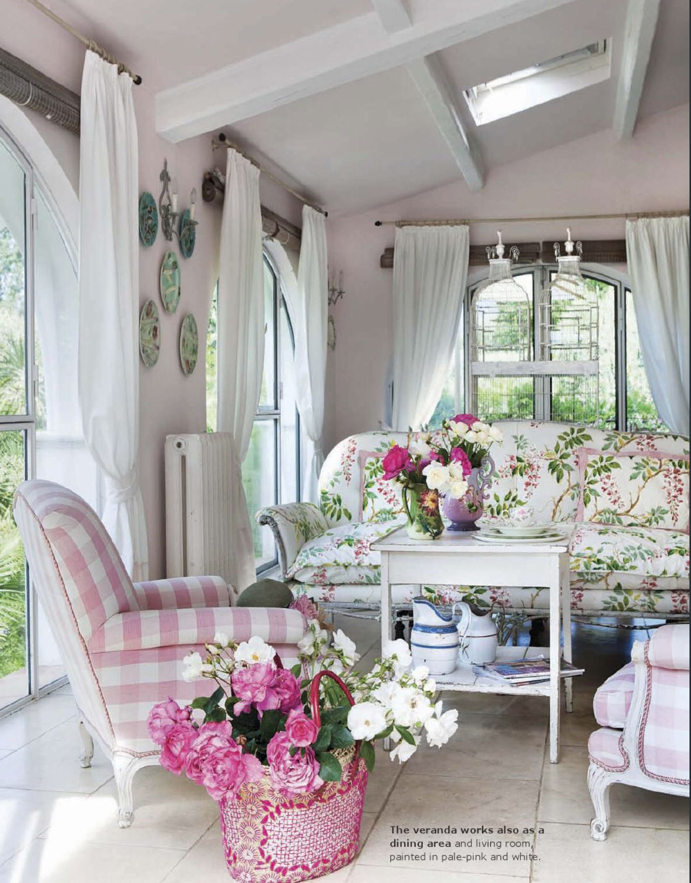 At home in provence interiors by color for Shabby chic cottage decor